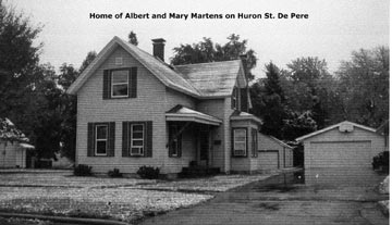 Home of Albert and Mary Martens on Huron