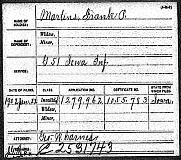1902 Draft Registration enlisted in G51 Iowa Infantry Division